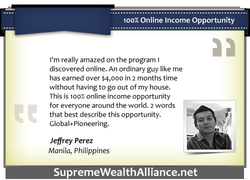 Supreme Wealth Alliance Ultimate Testimonial - Jeffrey Perez